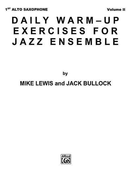 Daily Warm-Up Exercises for Jazz Ensemble, Volume 1