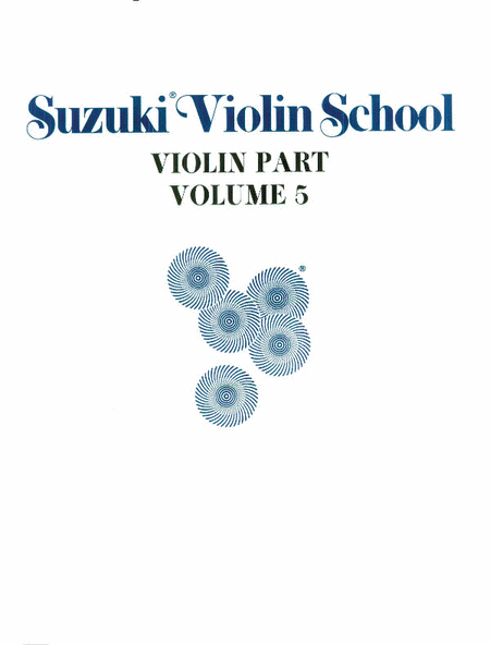 Suzuki Violin School, Volume 5 - Violin Part