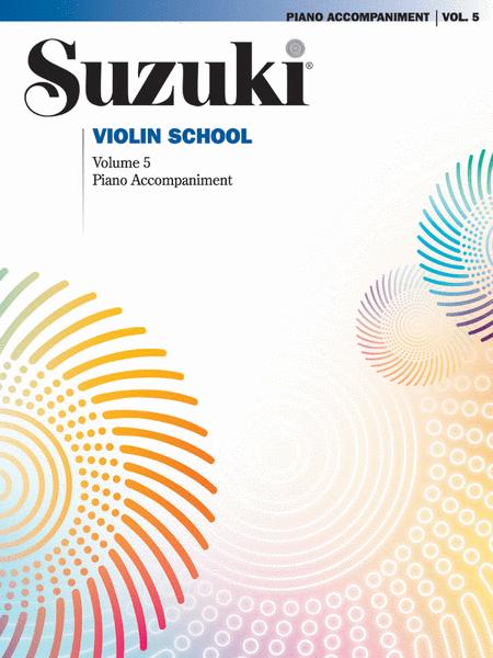 Suzuki Violin School, Volume 5 - Piano Accompaniments