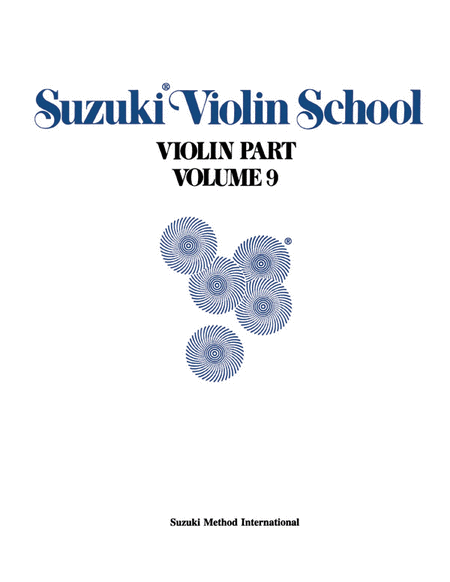 Suzuki Violin School, Volume 9 - Violin Part