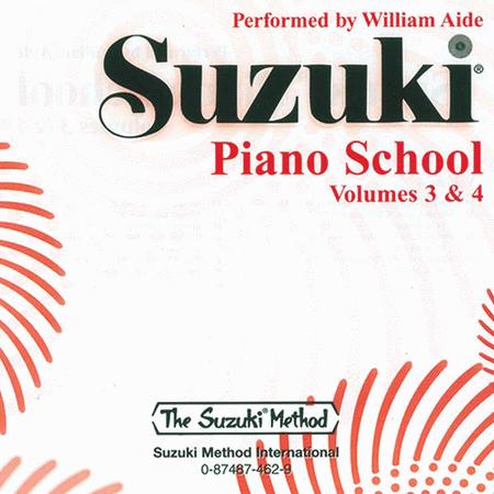 Suzuki Piano School, Volumes 3 & 4 - Compact Disc
