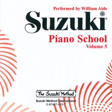 Suzuki Piano School, Volume 5 - Compact Disc