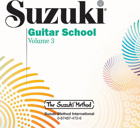 Suzuki Guitar School Volume 3, Compact Disc