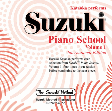 Suzuki Piano School, Volume 1 - Compact Disc