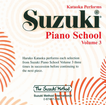 Suzuki Piano School, Volume 3 - Compact Disc