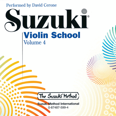 Suzuki Violin School, Volume 4 - Compact Disc