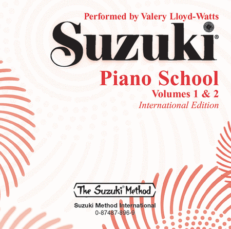 Suzuki Piano School, Volumes 1 & 2 - Compact Disc