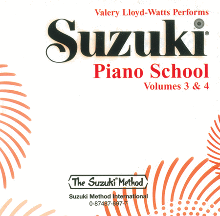 Suzuki Piano School, Volumes 3 & 4 - Compact Disc