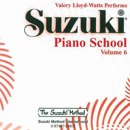 Suzuki Piano School, Volume 6 - Compact Disc