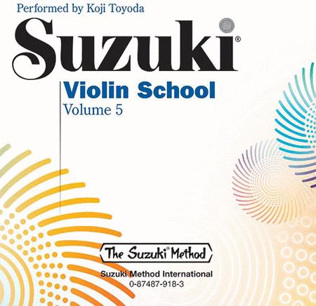 Suzuki Violin School, Volume 5 - Compact Disc
