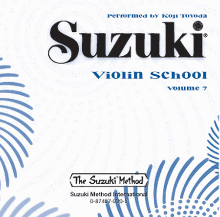 Suzuki Violin School, Volume 7 - Compact Disc