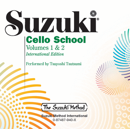 Suzuki Cello School, Volumes 1 & 2 - Compact Disc