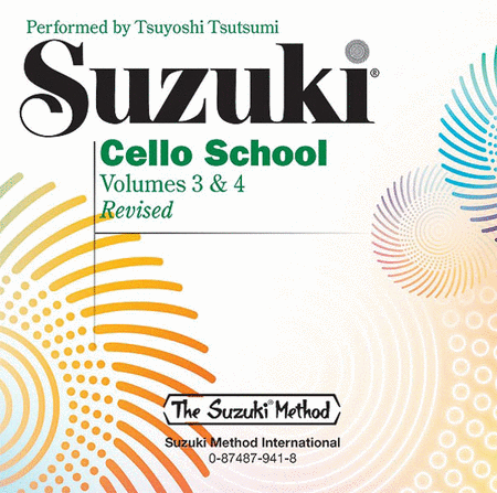 Suzuki Cello School, Volume 3 & 4 - Compact Disc
