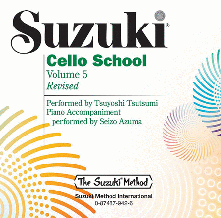 Suzuki Cello School, Volumes 5 - Compact Disc