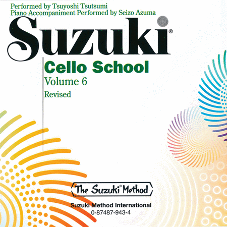 Suzuki Cello School, Volume 6 - Compact Disc