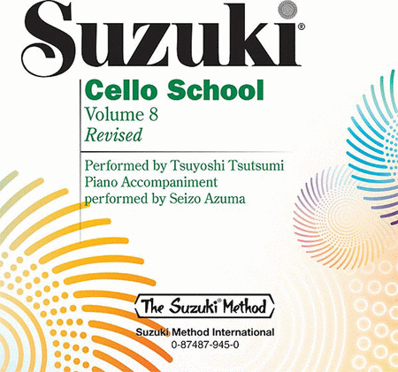 Suzuki Cello School, Volume 8 - Compact Disc
