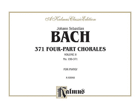 371 Four-Part Chorales, Volume 2