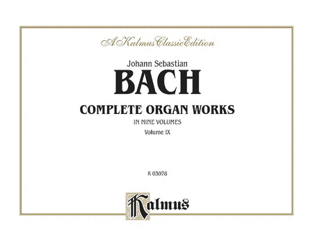 Complete Organ Works, Volume 9