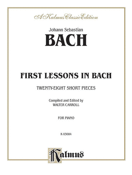 First Lessons In Bach - Easy Piano
