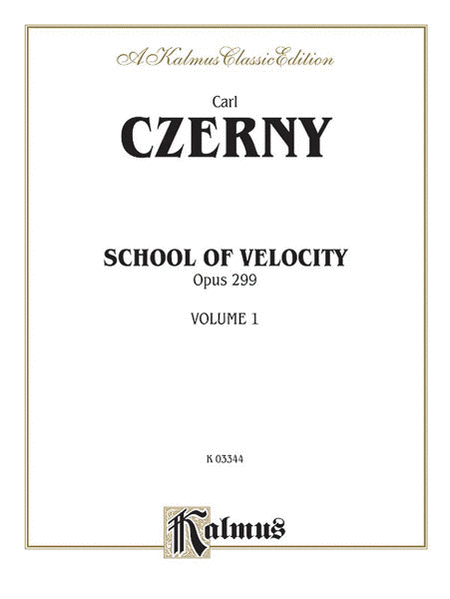 School of Velocity, Op. 299, Volume 1