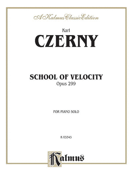 School of Velocity, Op. 299