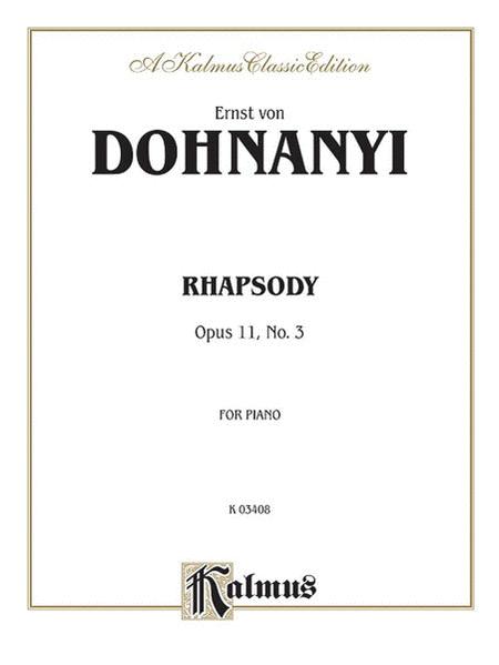 Rhapsody, Op. 11, No. 3