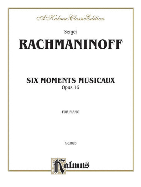 Six Moments Musicaux, Op. 16