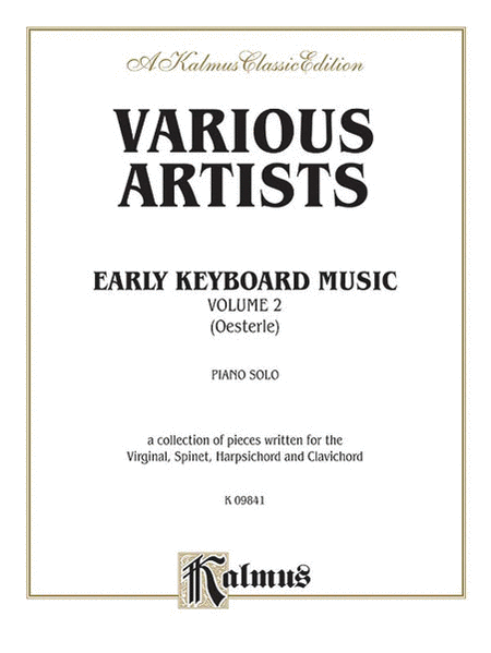 Early Keyboard Music, Volume 2