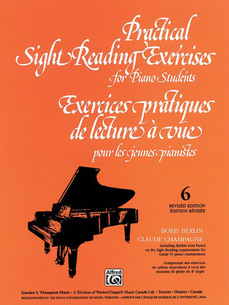 Practical Sight Reading Exercises for Piano Students, Book 6