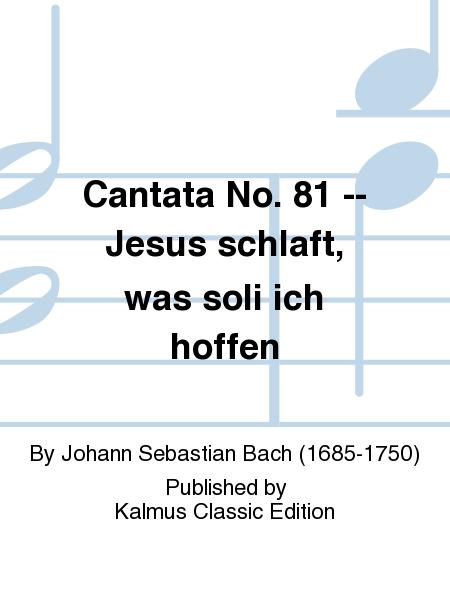 Cantata No. 81 -- Jesus schlaft, was soli ich hoffen