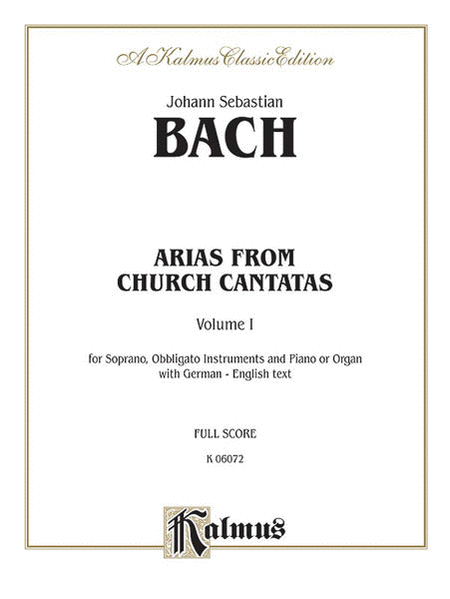 Soprano Arias from Church Cantatas (Sacred), Volume 1