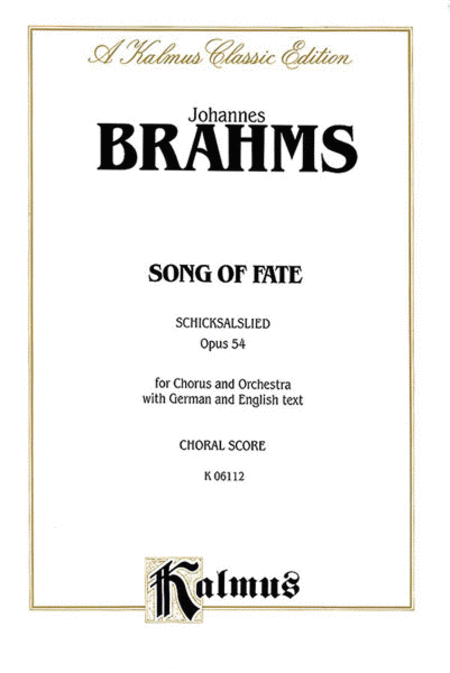 Song of Fate (Schicksalslied), Op. 54