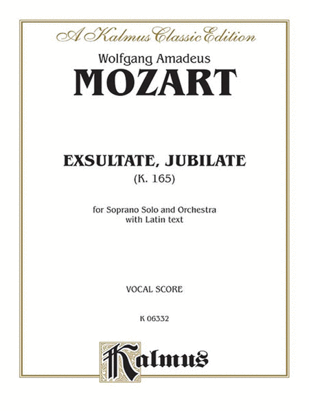 Exsultate Jubilate, K. 165 (Motet for Soprano)