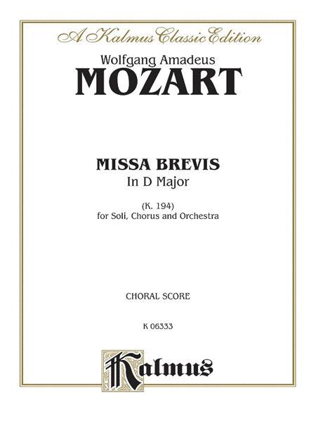 Missa Brevis in D Major, K. 194