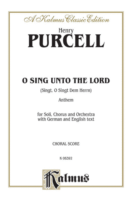Sing, O Sing Unto the Lord
