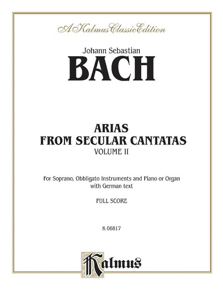 Arias From Secular Cantatas, Volume II