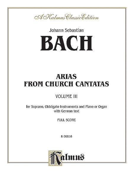 Soprano Arias from Church Cantatas (5 Sacred), Volume 3