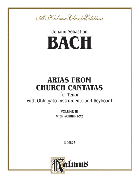 Tenor Arias, (4 Arias), Volume 3