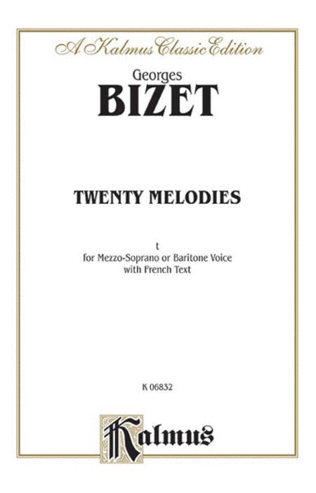 Bizet: 20 Melodies (Mezzo Soprano/Baritone)