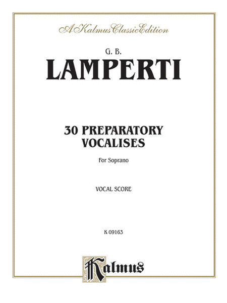 30 Preparatory Vocalises