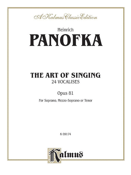 The Art of Singing; 24 Vocalises, Op. 81