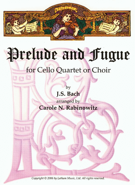 Prelude and Fugue in E Minor for Cello Quartet or Choir