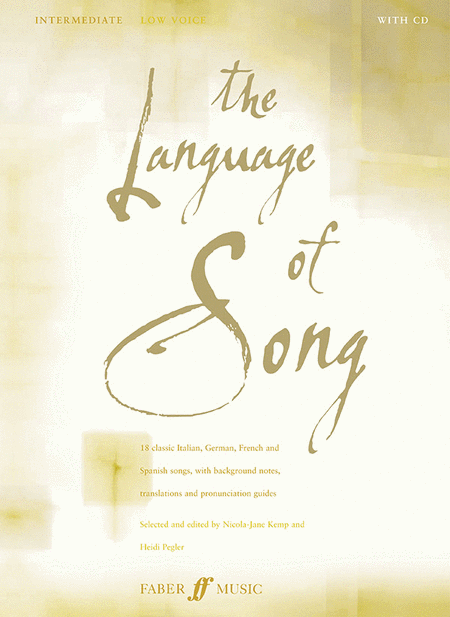 The Language of Song - Intermediate (Low Voice)