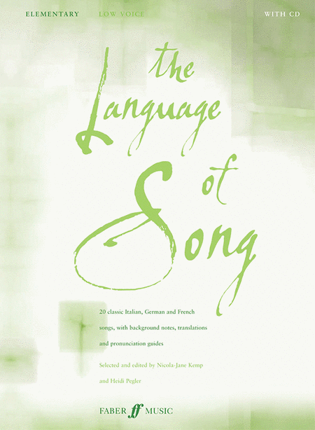 The Language of Song - Elementary (Low Voice)