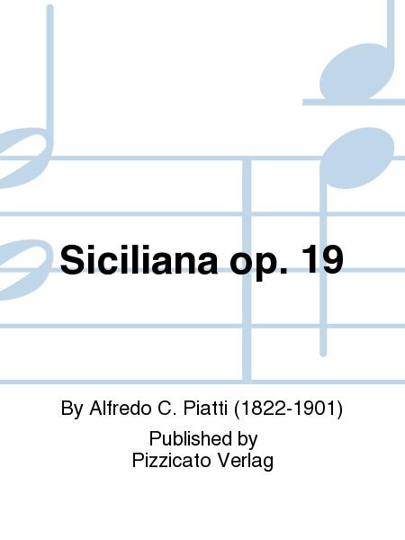 Siciliana op. 19