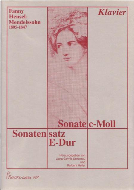 Sonate c-Moll und Sonatensatz E-Dur