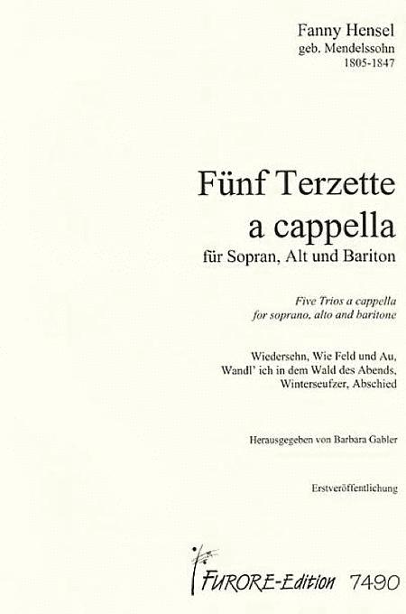 Funf Terzette/Five Trios