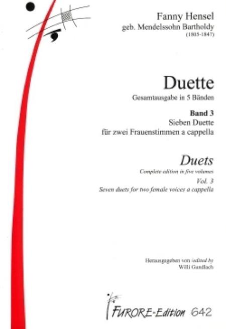 Duets Volume 3: A Cappella duets