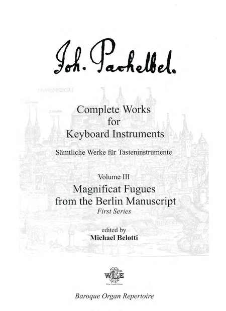 Complete Works for Keyboard Instruments, Volume III