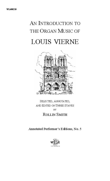 An Introduction to the Organ Music of Louis Vierne